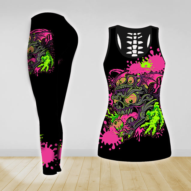 COMBO TANK TOP & LEGGINGS OUTFIT FOR WOMEN TATTOO TA004KE
