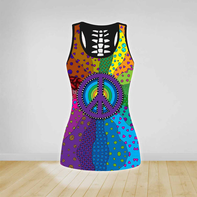 COMBO HIPPIE TANK TOP & LEGGINGS OUTFIT FOR WOMEN TA0034C