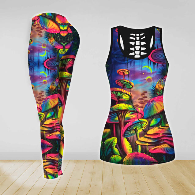 COMBO HIPPIE TANK TOP & LEGGINGS OUTFIT FOR WOMEN TA0034M