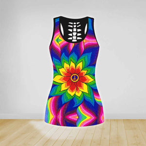 COMBO HIPPIE TANK TOP & LEGGINGS OUTFIT FOR WOMEN TA0034N
