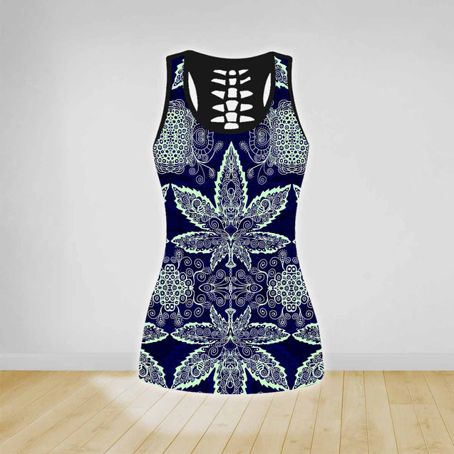 COMBO HIPPIE TANK TOP & LEGGINGS OUTFIT FOR WOMEN TA0034U