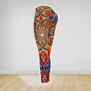 COMBO HIPPIE LOTUS TANK TOP & LEGGINGS OUTFIT FOR WOMEN TA00351