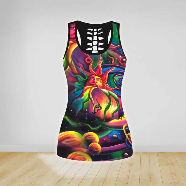 COMBO HIPPIE TANK TOP & LEGGINGS OUTFIT FOR WOMEN TA00355