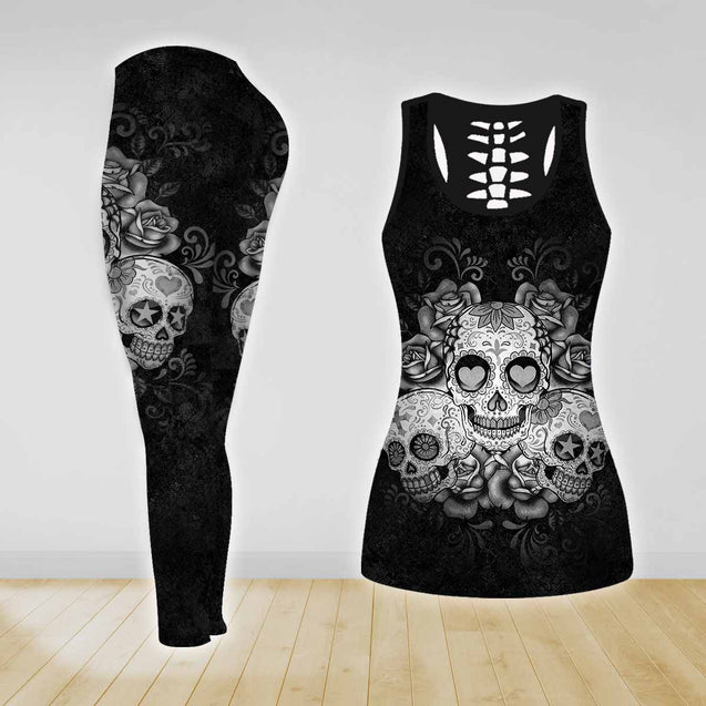 COMBO TANK TOP & LEGGINGS OUTFIT FOR WOMEN TATTOO TA003PO