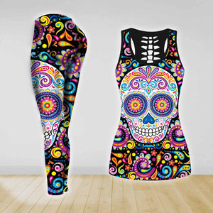 COMBO TANK TOP & LEGGINGS OUTFIT FOR WOMEN TATTOO TA003QT