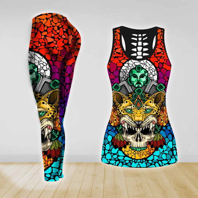 COMBO TANK TOP & LEGGINGS OUTFIT FOR WOMEN TATTOO TA003QV
