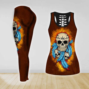 COMBO TANK TOP & LEGGINGS OUTFIT FOR WOMEN TATTOO TA003QX