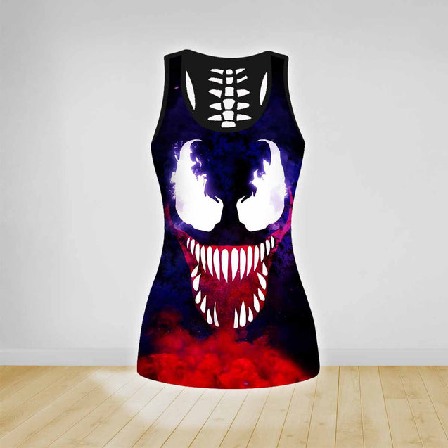 COMBO TANK TOP & LEGGINGS OUTFIT FOR WOMEN PAINTING TA003SU