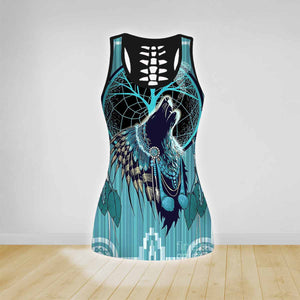 COMBO DARK WOLF TANK TOP & LEGGINGS OUTFIT FOR WOMEN TA003TF