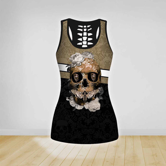 COMBO SKULL TATOO TANK TOP & LEGGINGS OUTFIT FOR WOMEN TA003TR