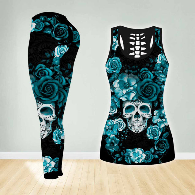 COMBO SKULL TANK TOP & LEGGINGS OUTFIT FOR WOMEN TA003U1
