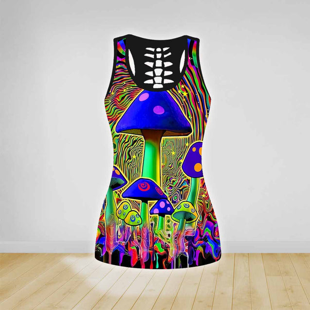 COMBO MUSHROOMS TANK TOP & LEGGINGS OUTFIT FOR WOMEN TA003V4