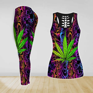COMBO TANK TOP & LEGGINGS OUTFIT FOR WOMEN TATTOO TA003X3