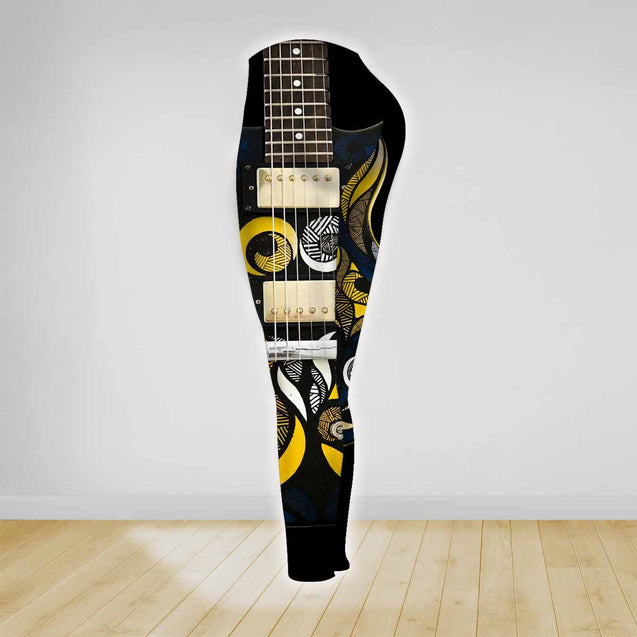 COMBO GUITAR TANK TOP & LEGGINGS OUTFIT FOR WOMEN TATTOO TA003YA