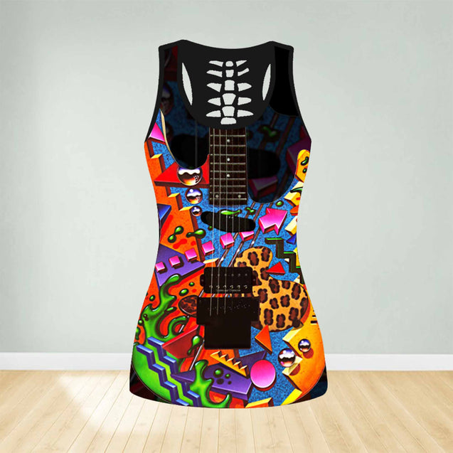 COMBO GUITAR TANK TOP & LEGGINGS OUTFIT FOR WOMEN TA003YD