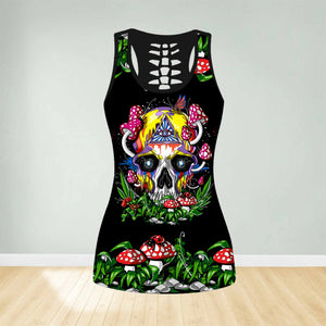 COMBO SKULL TANK TOP & LEGGINGS OUTFIT FOR WOMEN TATTOO TA003Z2