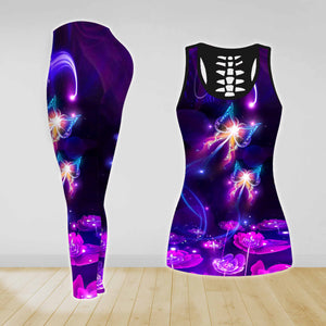 COMBO BUTTERFLIES TANK TOP & LEGGINGS OUTFIT FOR WOMEN TATTOO TA003ZBNUH