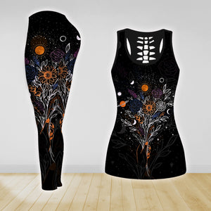 COMBO FLOWERS TANK TOP & LEGGINGS OUTFIT FOR WOMEN TA003ZE