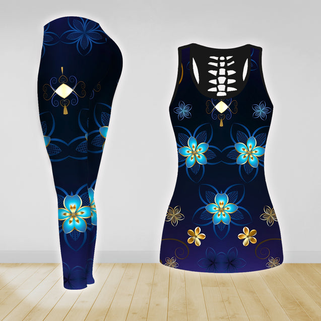 COMBO YOGA TANK TOP & LEGGINGS OUTFIT FOR WOMEN TA003ZV
