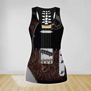 COMBO GUITAR TANK TOP & LEGGINGS OUTFIT FOR WOMEN TA00400