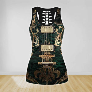 COMBO GUITAR TANK TOP & LEGGINGS OUTFIT FOR WOMEN TA00401NUH
