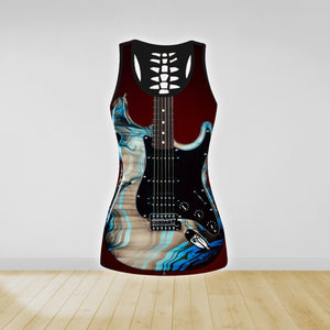 COMBO GUITAR TANK TOP & LEGGINGS OUTFIT FOR WOMEN TA00404