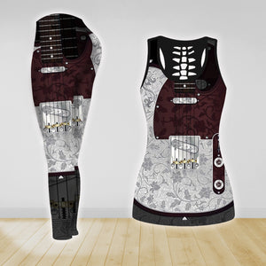 COMBO GUITAR TANK TOP & LEGGINGS OUTFIT FOR WOMEN TA00407