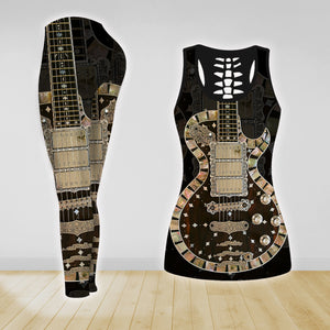 COMBO GUITAR TANK TOP & LEGGINGS OUTFIT FOR WOMEN TA0040A