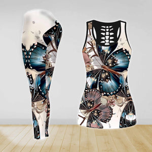 COMBO BUTTERFLY TANK TOP & LEGGINGS OUTFIT FOR WOMEN TATTOO TA004ED