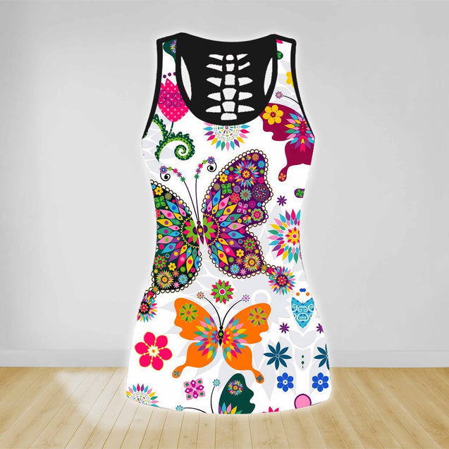 COMBO BUTTERFLY TANK TOP & LEGGINGS OUTFIT FOR WOMEN TA004EE