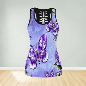 COMBO BUTTERFLY TANK TOP & LEGGINGS OUTFIT FOR WOMEN TA004EG