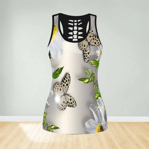 COMBO BUTTERFLY TANK TOP & LEGGINGS OUTFIT FOR WOMEN TA004EI