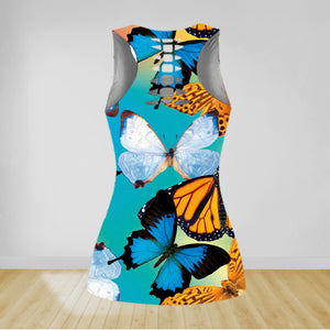 COMBO BUTTERFLY TANK TOP & LEGGINGS OUTFIT FOR WOMEN TA004EJ