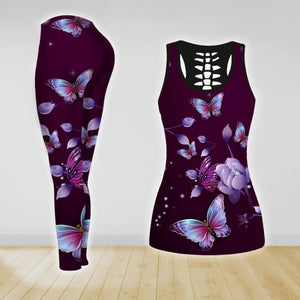 COMBO BUTTERFLY TANK TOP & LEGGINGS OUTFIT FOR WOMEN TA004EM