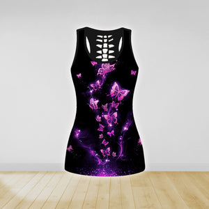 COMBO BUTTERFLY TANK TOP & LEGGINGS OUTFIT FOR WOMEN TA004EO