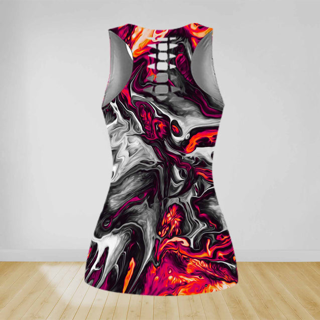 COMBO WALLPAPER TANK TOP & LEGGINGS OUTFIT FOR WOMEN TA004ES