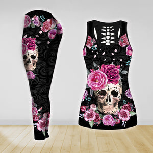 COMBO TANK TOP & LEGGINGS OUTFIT FOR WOMEN TATTOO TA004IF