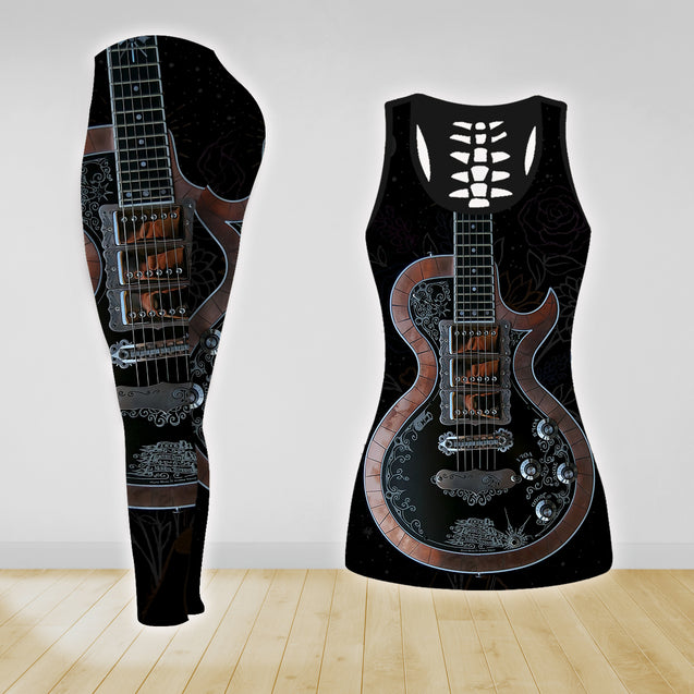 COMBO GUITAR TANK TOP & LEGGINGS OUTFIT FOR WOMEN TATTOO TA04N1