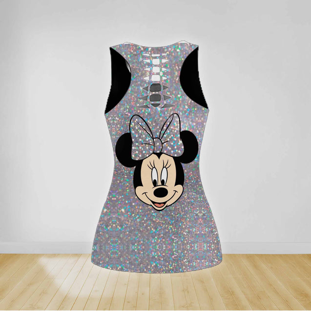 COMBO MINNIE MOUSE TANKTOP & LEGGINGS OUTFIT FOR WOMEN TA0068JTTD