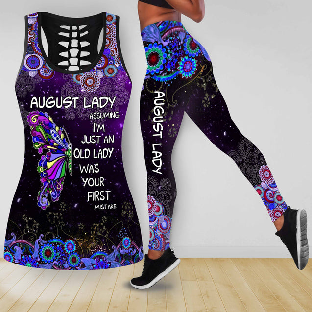 COMBO BUTTERFLY TANKTOP & LEGGINGS OUTFIT FOR WOMEN TA00EATSON