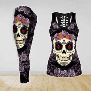 COMBO TANK TOP & LEGGINGS OUTFIT FOR WOMEN TATTOO TA04K7