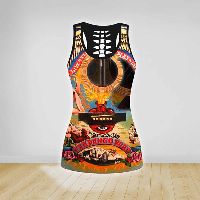 COMBO GUITAR TANK TOP & LEGGINGS OUTFIT FOR WOMEN TATTOO TA04N4