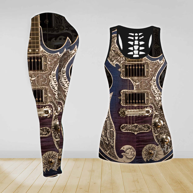 COMBO GUITAR TANK TOP & LEGGINGS OUTFIT FOR WOMEN TATTOO TA04N6