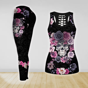 COMBO TANK TOP & LEGGINGS OUTFIT FOR WOMEN TATTOO TA04K3