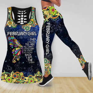 COMBO BUTTERFLY TANKTOP & LEGGINGS OUTFIT FOR WOMEN TA05082IEH FEBRUARY