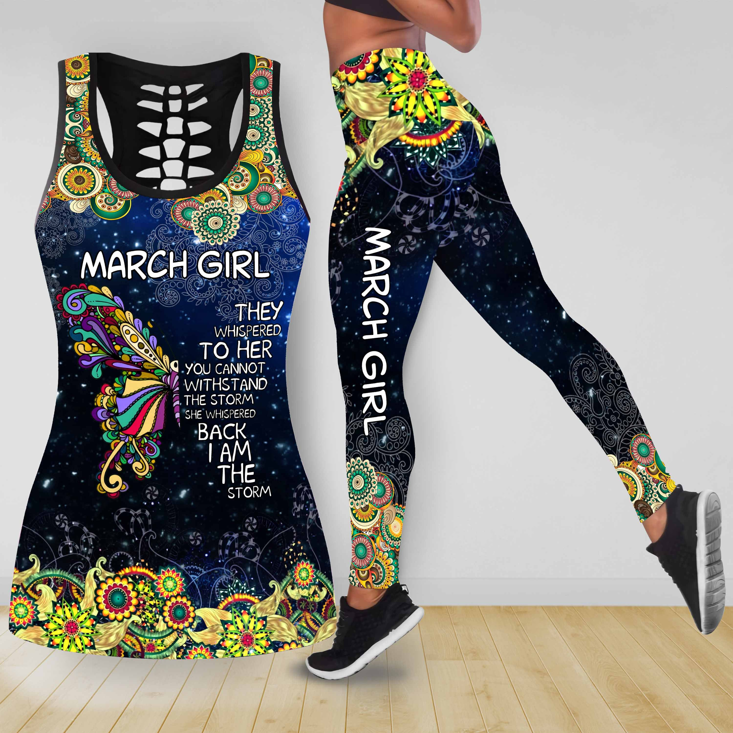 COMBO BUTTERFLY TANKTOP & LEGGINGS OUTFIT FOR WOMEN TA05083IEH MARCH