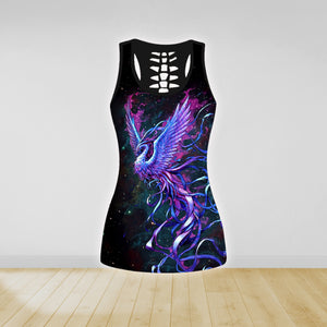 COMBO PHOENIX TATTOO TANK TOP & LEGGINGS OUTFIT FOR WOMEN  TA064VIEH