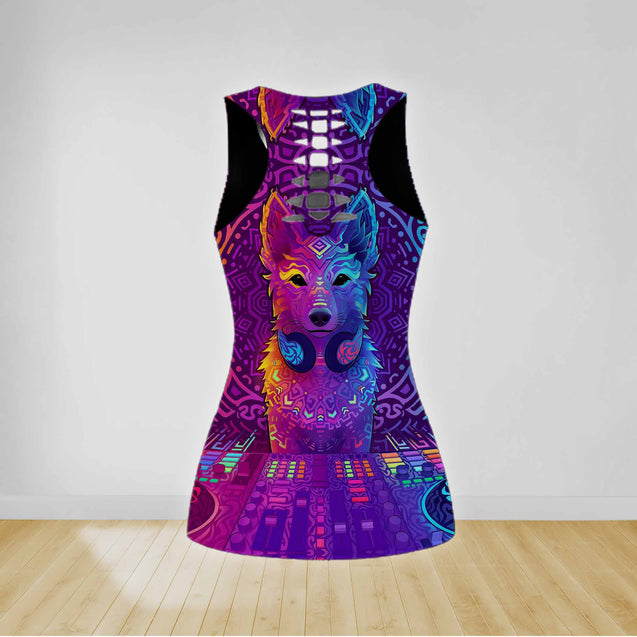 COMBO MUSIC TANKTOP & LEGGINGS OUTFIT FOR WOMEN TA0681IEH