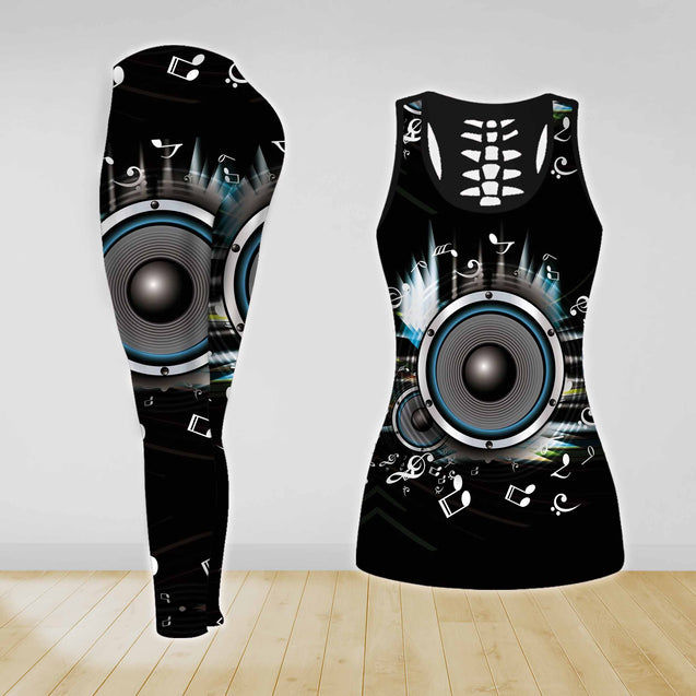 COMBO MUSIC TANKTOP & LEGGINGS OUTFIT FOR WOMEN TA0683IEH
