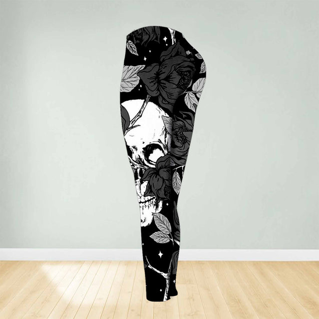 COMBO SKULL TANKTOP & LEGGINGS OUTFIT FOR WOMEN TA27081IEH